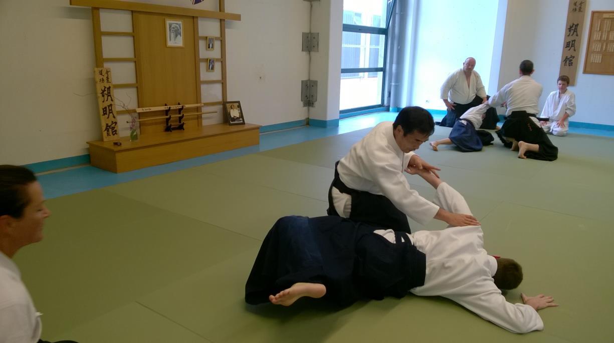Shihan Kobayashi Yukimitsu  au Dojo Sakumei Kan Aïkikai France