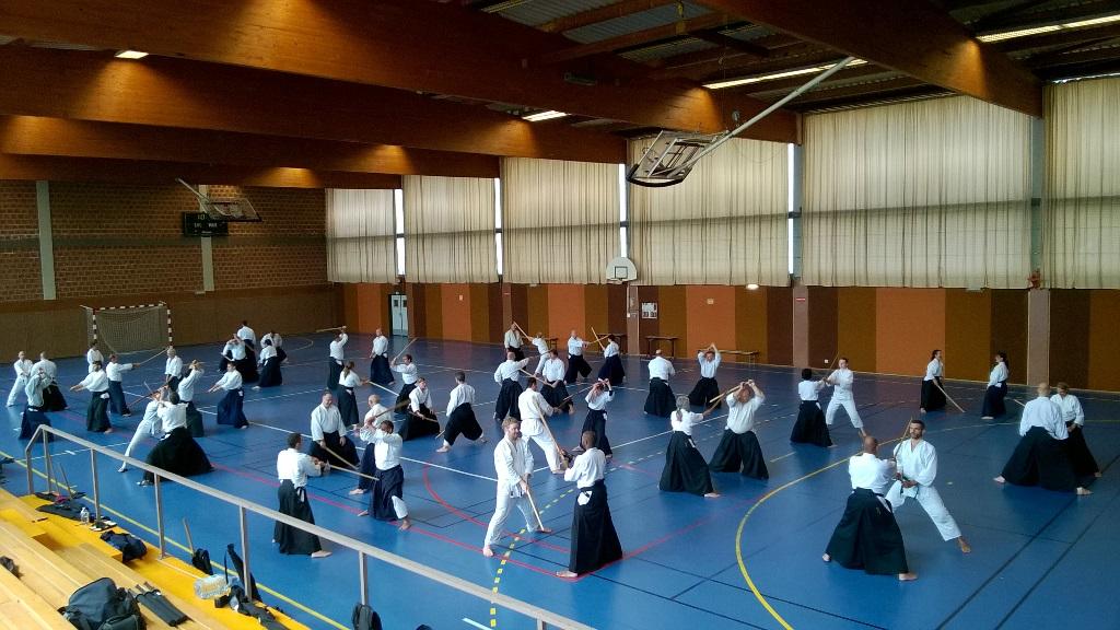 Stage 2015 Sakumei-kan Aikikai au Dojo de Steve Magson à Reichstett avec Kobayashi Yukimitsu Shihan 7 ème Dan