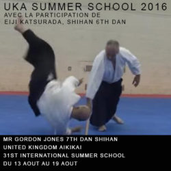Summer School 2016 Gordon Jones Shihan UKA