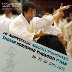 Affiche stage 2015 Kobayashi Yukimitsu Shihan