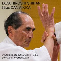 Stage Aikido Tada Hiroshi du 5 au 6 novembre 2016