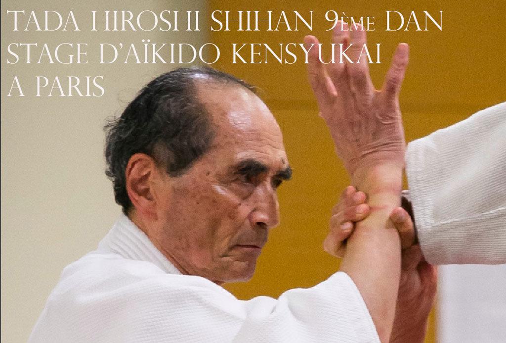 Stage d'Aikido Kensyukai de Tada Hiroshi à Paris
